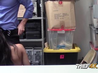 OFFICER deep throated by SEX professional inside his OFFICE