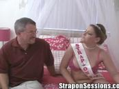 Robbie Gets a Gaping Asshole From The Strap On Princess & Her Girly Cock