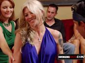 Horny couple enrolls in the adventure of a lifetime at the swingers house