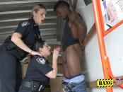 Milf cops make burglar stuff their mouth and coochies