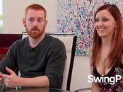 Overwhelmed swingers shake the jitters away and get ready to party