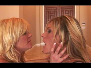Two Horny Moms Toy Each Other's Vagina On The Couch