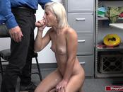 Blonde thief undergone cavity search then got fucked