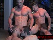 Young guys pleasing each other