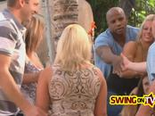 Darrell and Nikki toast their first swinging time