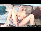Amateur Tgirl Gives Herself a Cumbath!