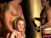 Real amateur couples goes to a foursome swinger party