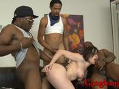 Jennifer White double penetrated by massive black cocks