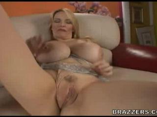 Blonde Mom Teasing Tits