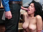 Latina shoplifter Maya Morena gets a hot fuck