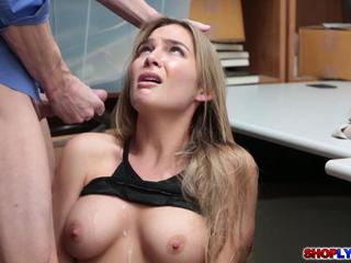 Blonde thief Blair Williams caught and got fucked
