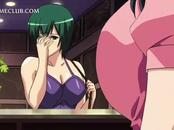 Hentai hottie sucking and fucking cock gets a facial