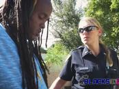 Rhastafari dude gets his cock sucked and riden by perverted officers