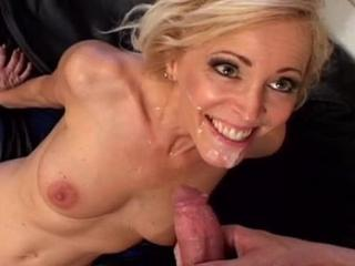 Blonde chick sucks & fucked by meaty dick