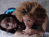 Kendall Woods and Osa Lovely have interracial threesome