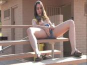 Teen Masturbate Outdoor