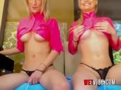 2 Hot Blondes Love Shaking 2 WETVIBE Sex Toy While You Take Control