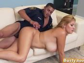 Busty blonde slut sideways shaved cunt long cock