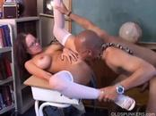 Huge-Boobed Brunette Housewife Enjoys An Orgasmic Fucking Session