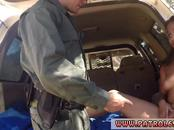 Real woman police officer Horny border patrol ravages Latin damsel