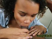 BUSTY black chick pounded hard at the OFFICE