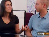 Swingers swap partners in sexual orgy adventure