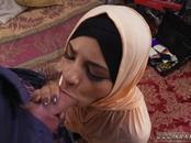 White girl muslim immigrant and arab workshop Desert Rose, aka