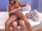 Hot Dark Babe Worships Two Hung Dick