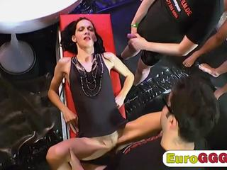 Nasty brunette loves dicking along with some piss