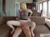 Allinternal blonde Alice is filled up with cum