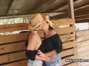 Busty cowgirls in a threeway