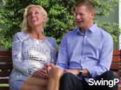 Mature couple gets together with other horny swingers by the pool