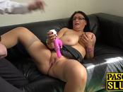 Big shaggy tits Sabrina Jade using sex toy for pleasure
