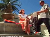 Chesty mommy suck and fuck a big dick at pool