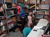 Naughty shoplifter fucked doggystyled in LP officers office