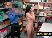 Amethyst is bent over and drilled hard by horny officers big cock