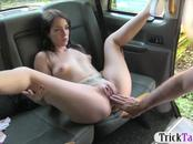 Perky tits amateur pounded by the driver in the backseat