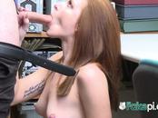ROUGH POV random sex with KINKY redhead in OFFICE
