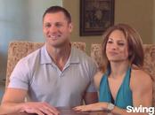 Married couple Gerrit & Beth enjoy swinger show