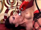 Kinky anal sex in boots and fishnet stockings