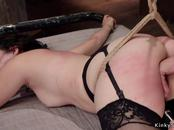 Asian slave in stockings gets fucked