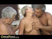 OmaPasS Older mature threesome