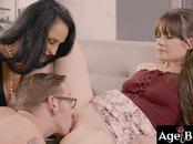 Johny fuck Alison and her horny grandma Rita