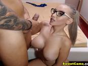 Nerdy Babe Gets Her Pussy Pounded By Her Boyfriend