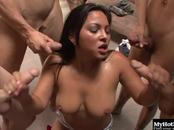 Youll love watching the beautiful Latina, Adriana Luna wholl be giving a group