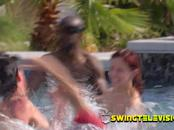 Nerdy girlfriend lets the nasty slut out once at the swing house