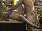Sexy blonde nailed by nasty pawn dude at the pawnshop