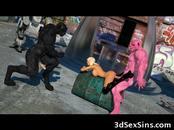 3D Busty Blonde Slammed by Mutants!