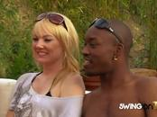 Curious amateur swingers stripping having interracial group sex on cameras