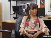 Asian hottie Tiffany Rain getting fucked for cash